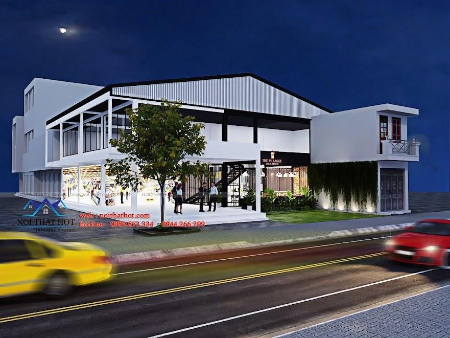 thiết kế quán trà sữa cafe và siêu thị 5