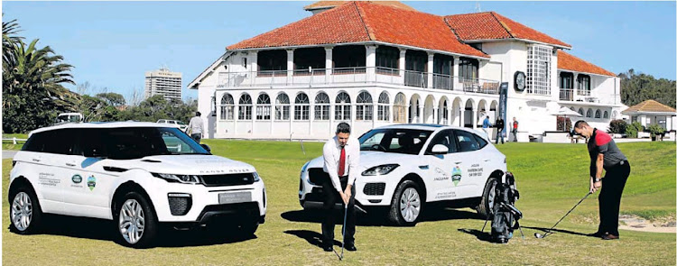 Ready for the Whack, Waggle and Win Humewood Golf Festival, sponsored by Jaguar Land Rover Eastern Cape, are the sponsors' brand manager Dylan Wightman, left, and club general manager Brendon Timm. The festival takes place at the famous links course from May 27 to June 2