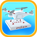 Drone Pizza Delivery 3D icon