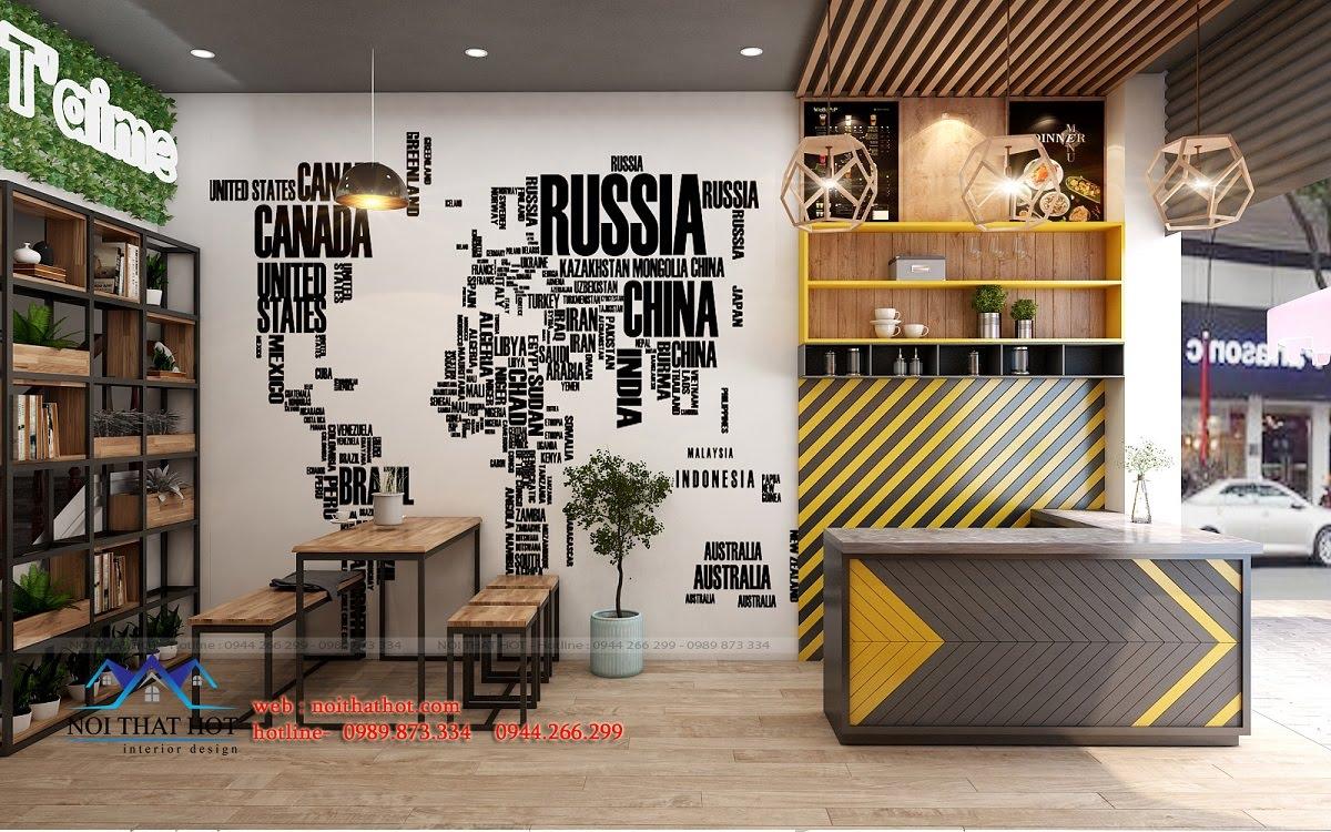 Thiết kế quán ăn nhanh đẹp phong cách trẻ trung