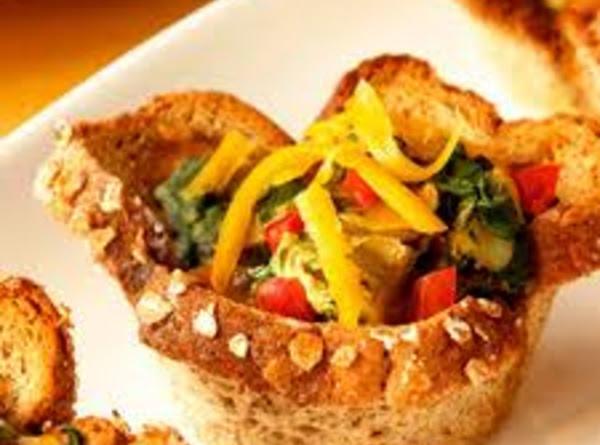 Veggie Bread Cups Recipe