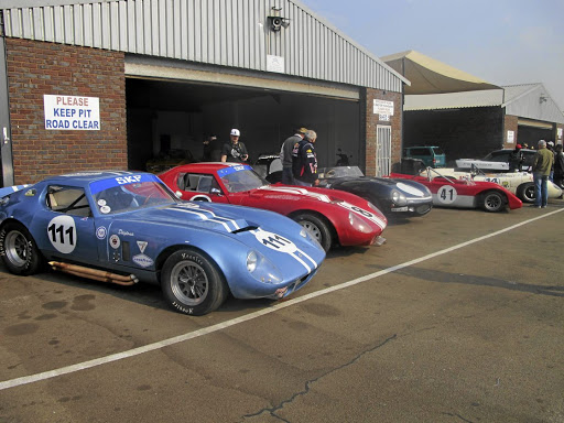 Peter du Toit, owner of Zwartkops Raceway, also owns icons such as the Shelby Cobra coupe, D-Type Jaguar, and Lola T70 together with a locally built Ecosse sports racer. Picture: ROGER HOUGHTON