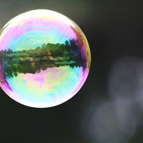 Cool Bubble  by H Scott Burd - Uncategorized All Uncategorized ( multicolored...up close,  )