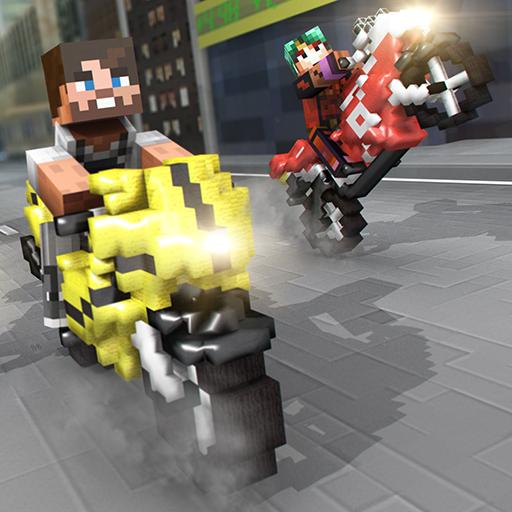 拍攝摩托車賽 像素遊戲 賽跑 喜歡 我的世界 版 賽車遊戲 App LOGO-APP開箱王