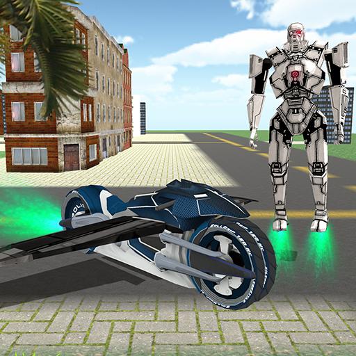 Flying Robot Bike Transform