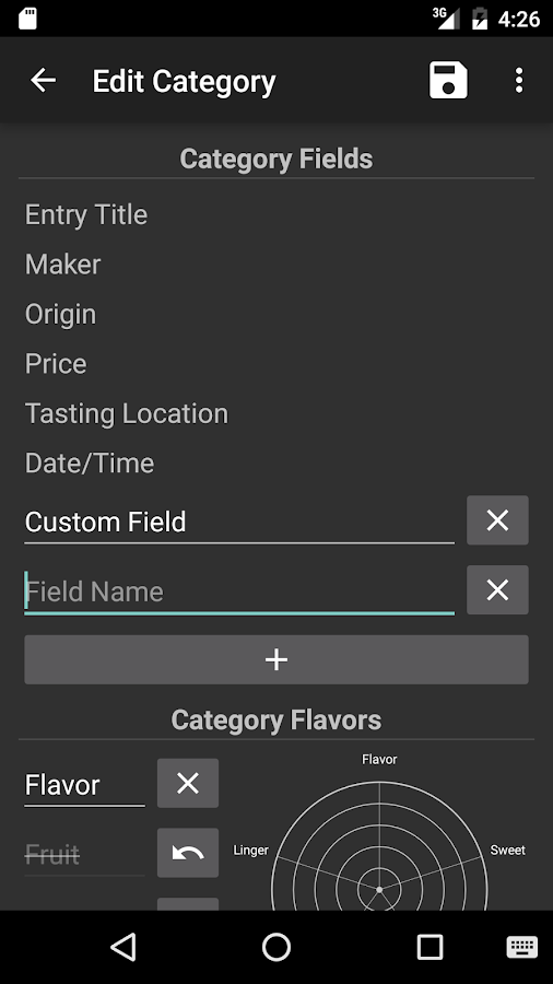 Flavordex Tasting Journal- screenshot