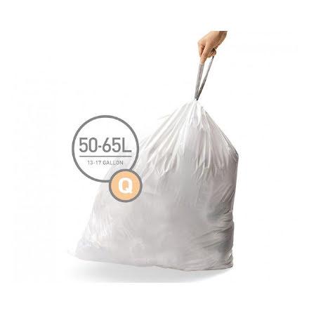 Avfallspåsar till Pedaltunna Typ Q Simplehuman