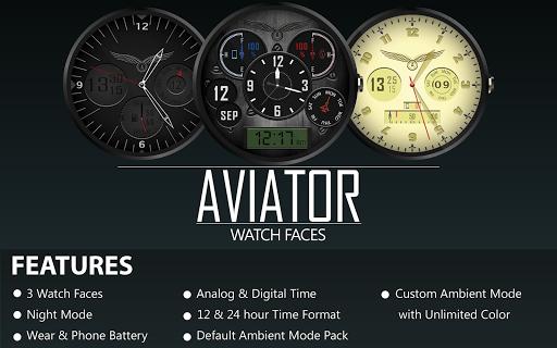 Aviator watch face HD Bundle