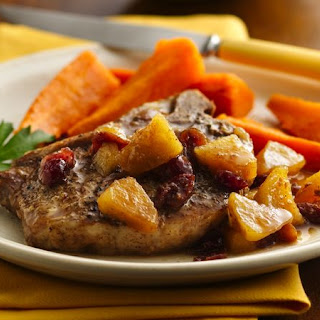 Slow-Cooker Pork Chops with Apple Chutney.