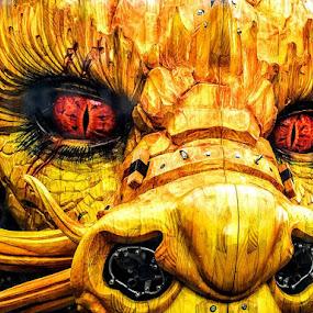 Dragon Breath by Stephen Lang - City,  Street & Park  Street Scenes ( #nantes, #dragon, #travel, #jules verne )