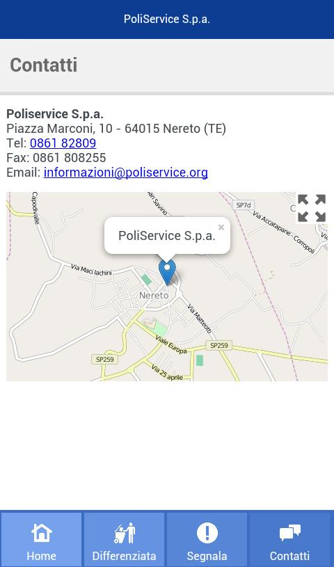 Poliservice- screenshot