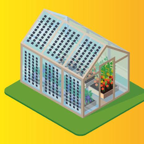 Solcellspaket för växthus