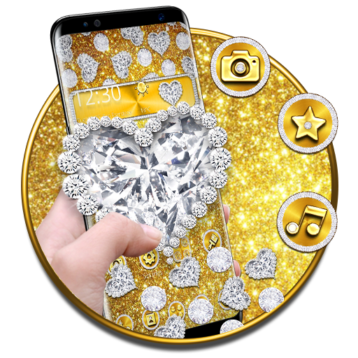 Golden Diamond Heart Gravity Theme