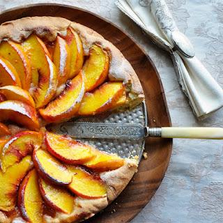 Peach Tart with Fresh Peaches and Apricot Jam Recipe