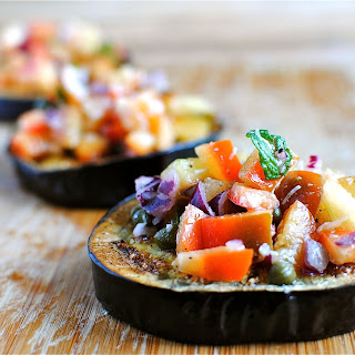 Roasted Eggplant Bruschetta
