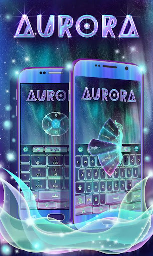 Colorful Aurora Keyboard Theme