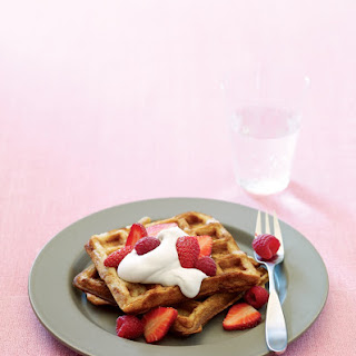 Classic Belgian Waffles with Fresh Berries