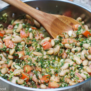 Cannellini Beans with Kale Pesto