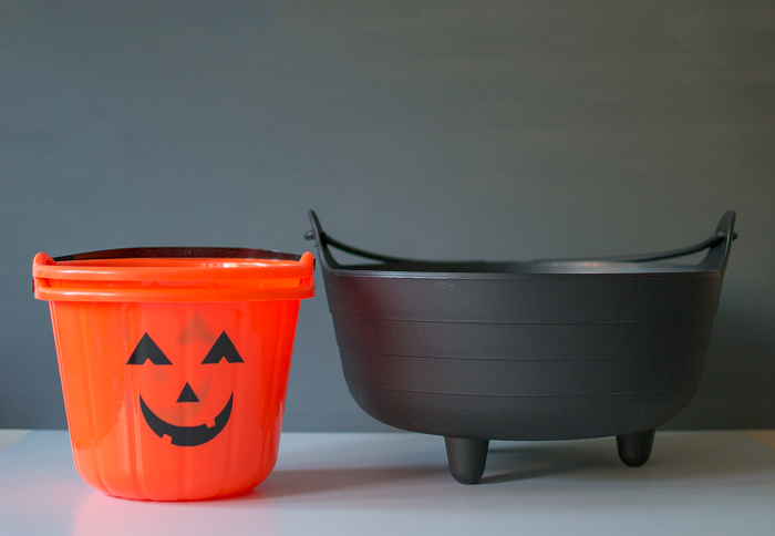 Pumpkin shaped Halloween bucket