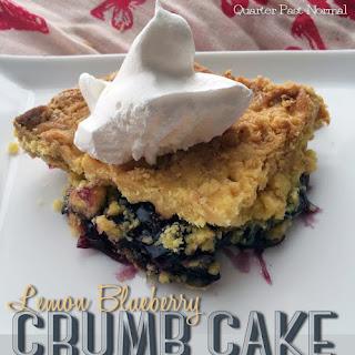 Vegan Lemon Blueberry Crumbcake