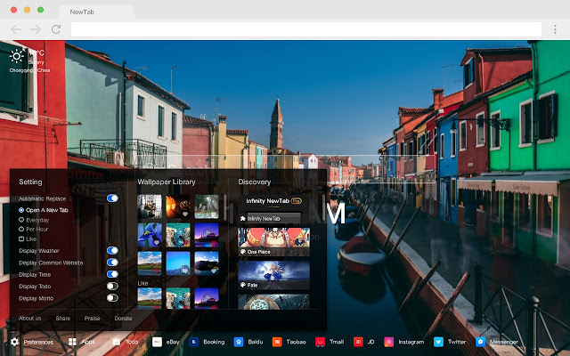 Venice Pop City HD Wallpapers New Tabs Theme