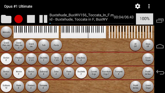 Opus #1 Ultimate-Organ Console screenshot 1
