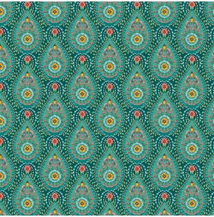 Pip 2020 Raindrops Tapet med geometriskt mönster - Grön