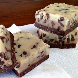 Raw, No Bake Chocolate Chip Cookie Dough Brownie