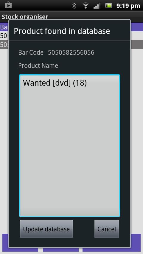 Скриншот Stock Organiser