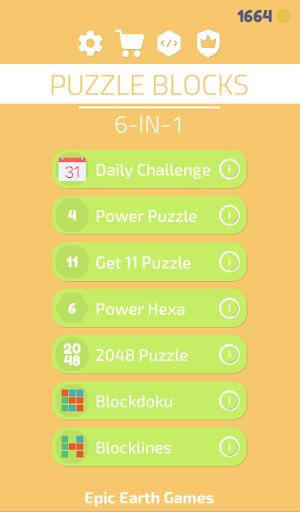 Puzzle Blocks - 6 in 1 - Number Merge Game screenshot 11