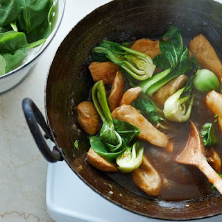 Ginger Chicken Stir-fry With Greens.