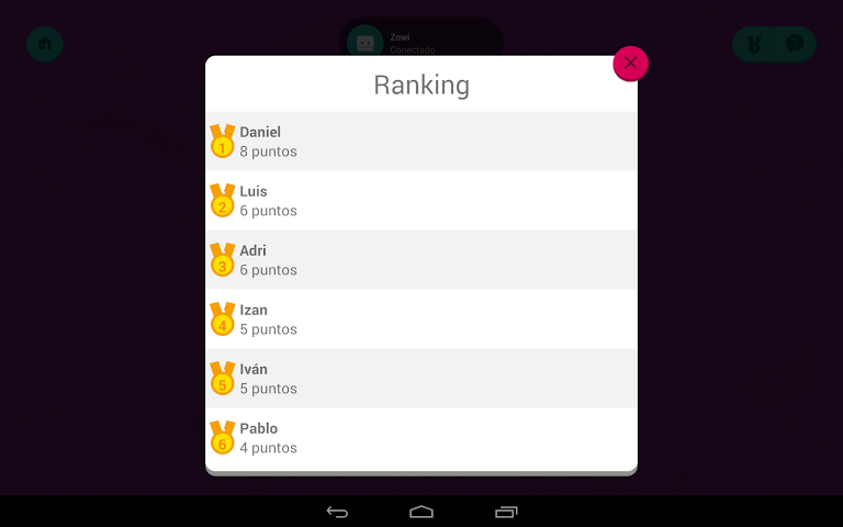 android Zowi App Screenshot 13