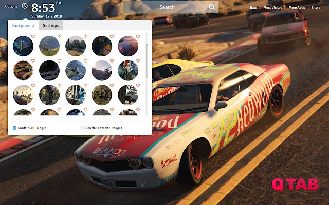 GTA 5 Wallpapers Theme New Tab