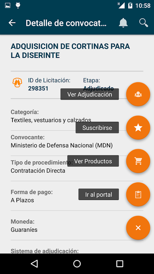 Contrataciones PY- screenshot