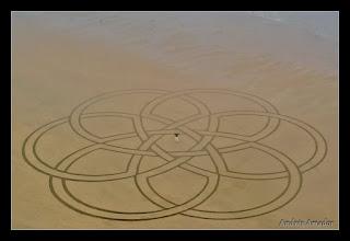 Photo: 'Celtic Knot', Ocean Beach, SF. My largest geometric design.