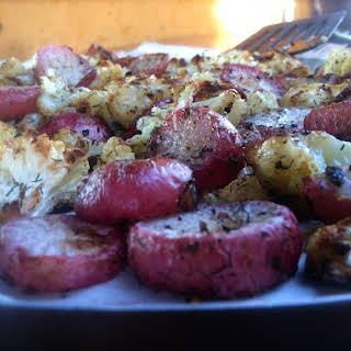 Roasted Radishes & Cauliflower.