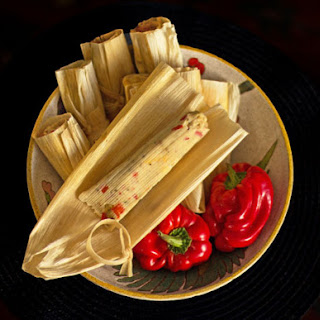 Red Chile Cheese Tamales.