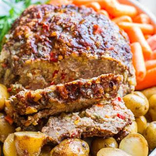 Balsamic & Parmesan Crockpot Meatloaf