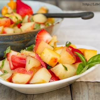 Peach and Strawberry Fruit Salad Recipe