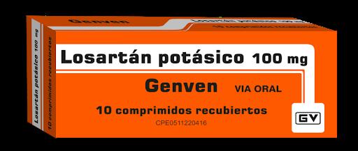 Losartan Potasico 100mg 10Comprimidos Genven Genven 10 comprimidos
