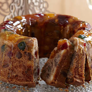 Candied Fruit Wreath Cake.