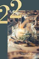 Festive Floral Arrangement - Pinterest Pin item
