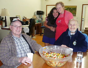 Photo: Making salad for the service day