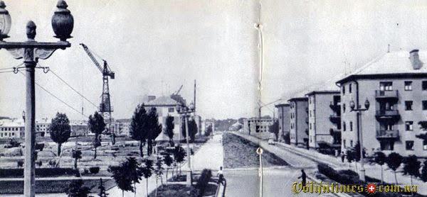 Проспект Перемоги. Поч. 1960-х. З фотоальбому Луцьк 1964