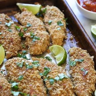 Tortilla Encrusted Chicken Tenders.