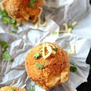 Mozzarella Cheese Stuffed Mashed Potato Balls.