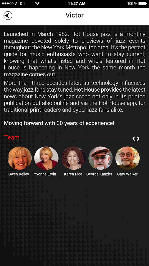 Hot House Jazz: Event Locator- screenshot