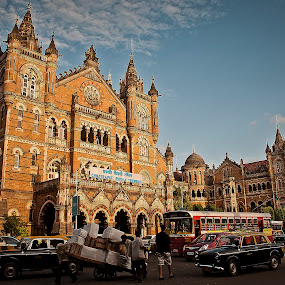 Mumbai by Shashank Sharma - Buildings & Architecture Other Exteriors ( mumbai, cst station, exterior, architecture, city )