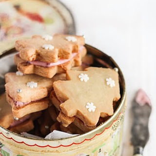 Ginger Shortbread with Cherry Icing