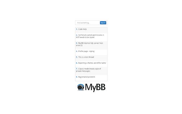 MyBB Community Forum Latest